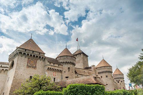 The castle of Chillon, near Montreux (Switzerland). van