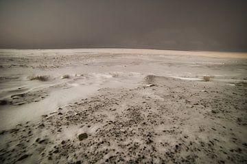 bevroren fjord bij Longyarbyen van Kai Müller