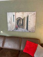 Kundenfoto: Rode Vespa von Yvonne van der Meij, auf leinwand