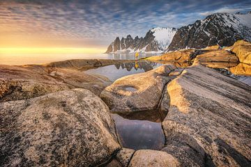 Felsküste Tungeneset Senja / Norwegen