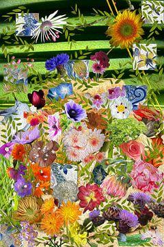 Rijkgevuld Bloemstilleven (art project) van Susan Hol