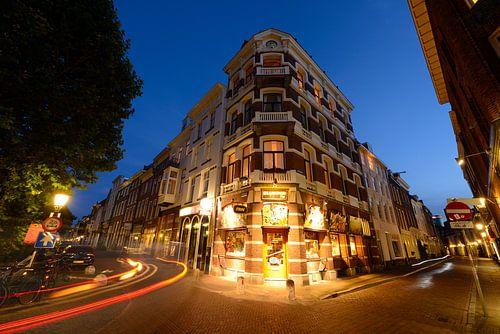 Hoek Oudegracht en Haverstraat in Utrecht