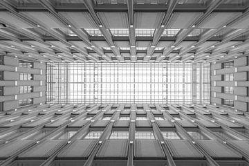 Le plafond architectural de la Maison Blaak à Rotterdam sur MS Fotografie | Marc van der Stelt