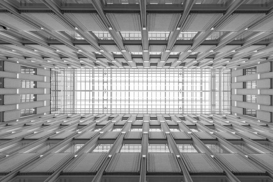 Het architectonisch plafond van het Blaak House in Rotterdam