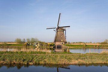 Landschaft mit Windmühle Kinderdijk, die Niederlande von Ger Beekes