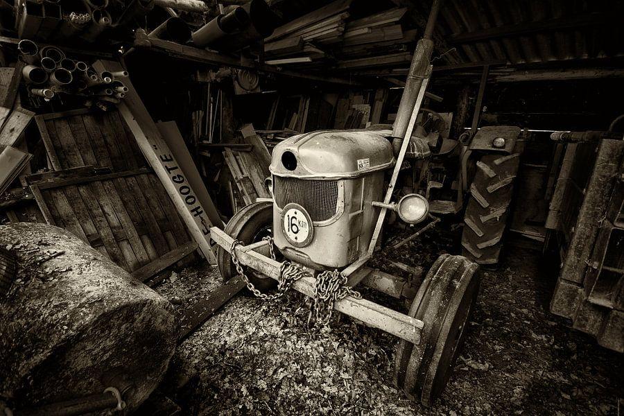 Oude tractor van Peter Halma