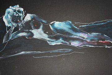 Akt 3 (von 4), blau schwarz von ArtBoxi