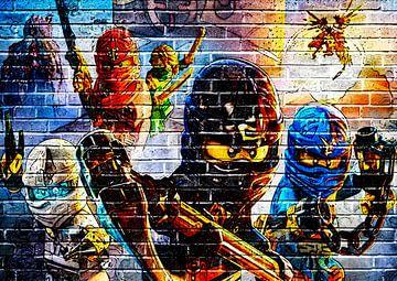 LEGO ninjago Wandgraffiti 2 von Bert Hooijer