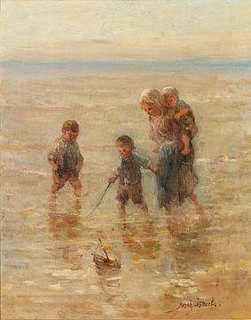 Kinder spielen in der Brandung, Jozef Israëls