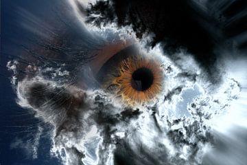 Pupil achter de wolkem von Abra van Vossen