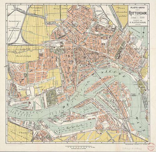 Plattegrond van Rotterdam / geteekend door J.J. Claus von Rebel Ontwerp