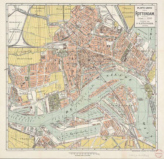 Plattegrond van Rotterdam / geteekend door J.J. Claus van Rebel Ontwerp