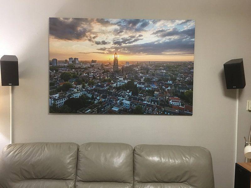 Klantfoto: Domtoren, Utrecht van Stefan Wapstra, op canvas