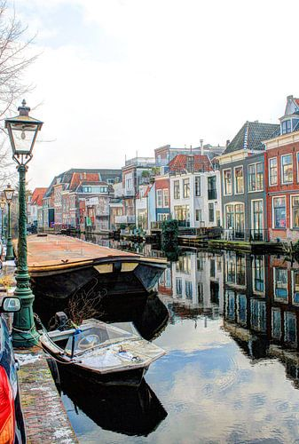 Oude Rijn Leiden Nederland