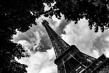 Eiffeltoren Zwart Wit van Sander van Mierlo