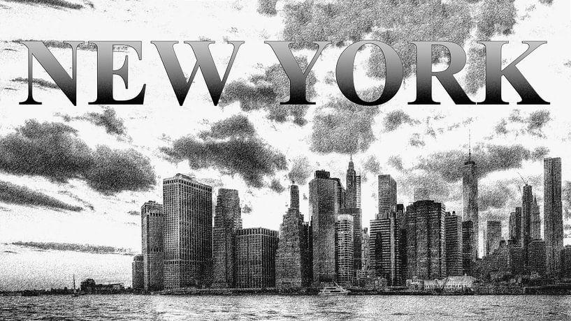 New York Skyline van Carina Buchspies