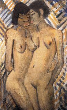 Zwei afrikanische oder schwarze Mädchen, Otto Mueller - ca1928 von Atelier Liesjes