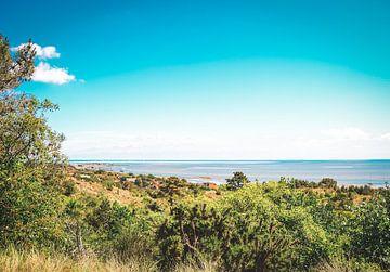 Uitzicht op Vlieland en de Waddenzee van Daphne Groeneveld
