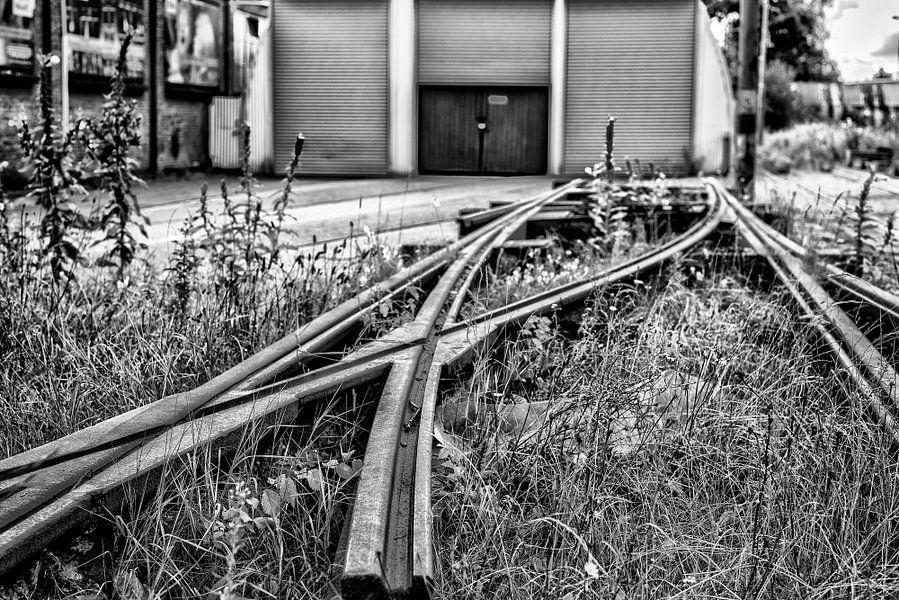Losse stalen tramwissel.
