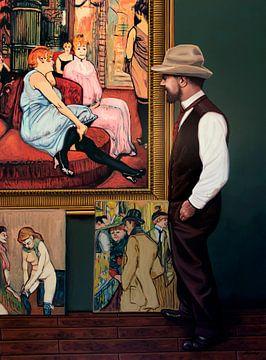 Trotse Henri de Toulouse-Lautrec Schilderij van Paul Meijering