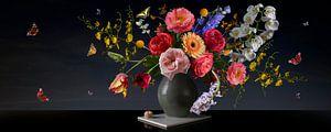 Panorama Still Königliche Blume Stillleben von Sander Van Laar