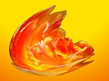 Vuur explosie van geel oranje 1 Soft van Alice Berkien-van Mil
