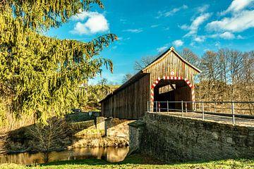 Holzbrücke Leubsdorf Hohenfichte Erzgebirge von Johnny Flash