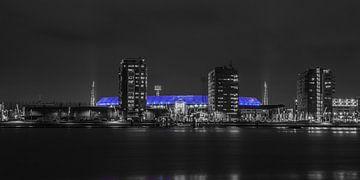 Feyenoord Stadion 30 (Zw/w) van John Ouwens