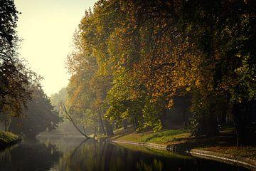 De Stadsbuitengracht ter hoogte van de Maliesingel in Utrecht in de herfst (4)