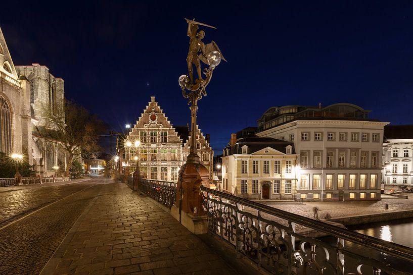 Ghent by night sur Menno Schaefer