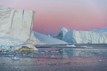 IJsbergen in Groenland van
