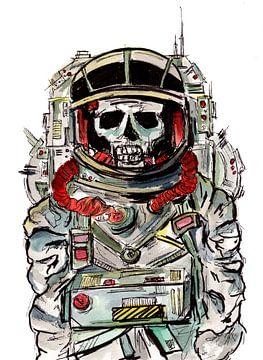 Griezelige astronaut van ZeichenbloQ