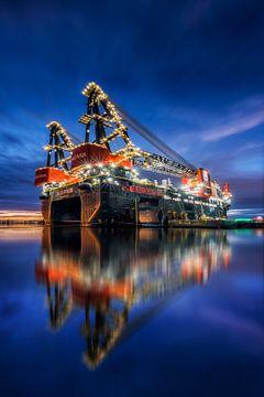 Sleipnir - größtes Kranschiff der Welt von Keesnan Dogger Fotografie