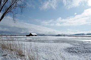 Winterlandschap, Middelhagen op het eiland Rügen van GH Foto & Artdesign