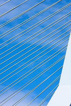 Steel wires suspension bridge von Jan Brons