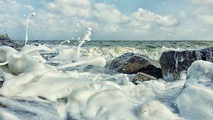 Schuimfeestje aan het IJsselmeer van