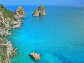 Capri Faraglioni Turquoise van Dirk van der Ven