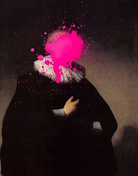 Rembrandt Portret van een Man met roze verf vlek