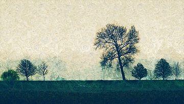 Impressionistische Landschaft von Arjen Roos