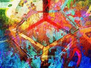 Modern, Abstract Digitaal Kunstwerk – Ground Control to Major Tom