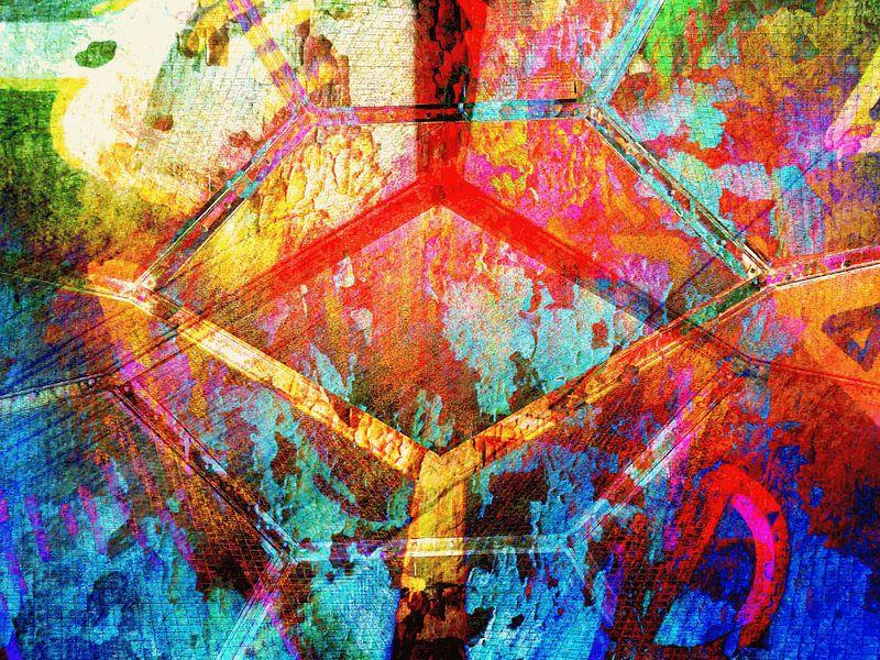 Modern, Abstract Digitaal Kunstwerk – Ground Control to Major Tom van Art By Dominic