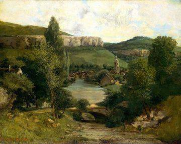 Gezicht op Ornans, Gustave Courbet