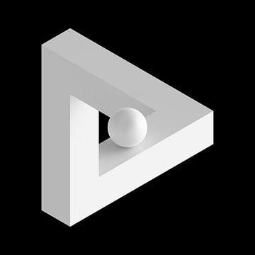 Unmögliches Dreieck mit Kugel von Jörg Hausmann