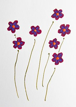 Bloemen elegantie retro van Bianca ter Riet