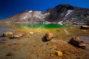 Emerald Lakes, Tongariro, Nieuw-Zeeland sur