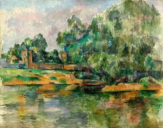 Rivier oever, Paul Cézanne van Liszt Collection
