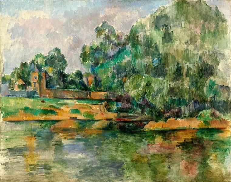 Rivier oever, Paul Cézanne