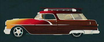 Pontiac Station Wagon 1956 Surfer Editie van Jan Keteleer