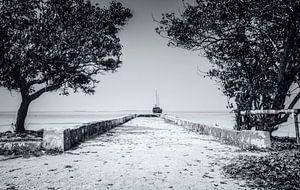 De ingang van de zee