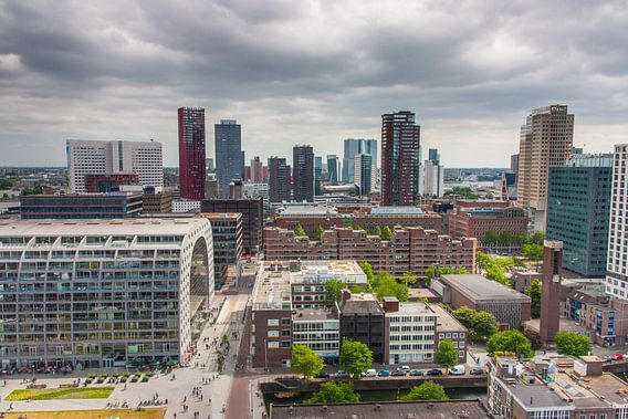Rotterdam vanaf de Laurenskerk van Ilya Korzelius